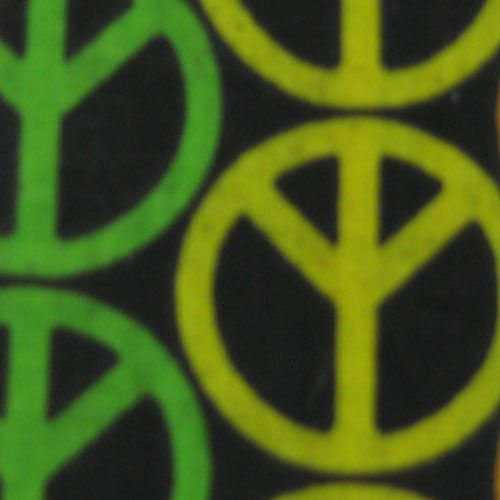 Cotton Peace Sign Print