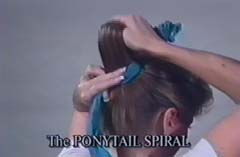 Pull Ponytail through Knot