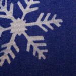 Cotton Snowflake Print