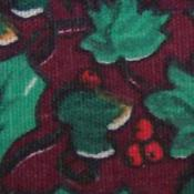 Cotton Green Holly Christmas Print