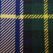 Cotton Green and Yellow Plaid Print