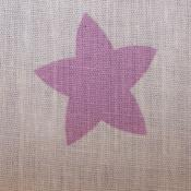 Cotton Purple Star Print
