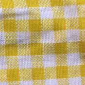 Cotton Yellow Gingham Print