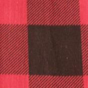 Cotton Red and Black Plaid Print